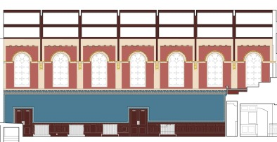 Tamworth Assembly Room: Elevation of scheme 1